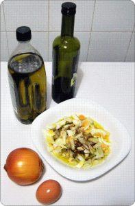Ensalada de cebolla y huevo duro ingredientes