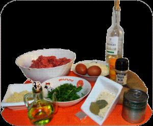 Albóndigas en salsa ingredientes