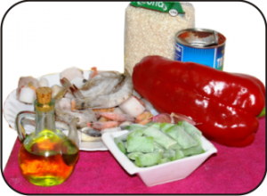 Arroz y marisco ingredientes