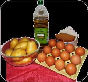 Tortilla de patatas Ingredientes