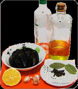 Mejillones picantes ingredientes