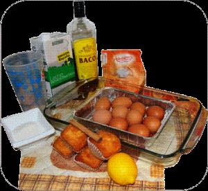 Ingredientes para el pan de Calatrava