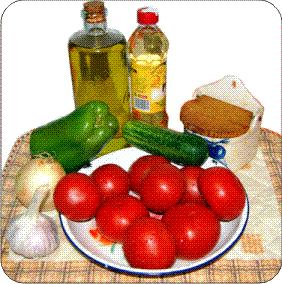 Ingedientes para gazpacho