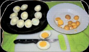 Huevos rellenos de atún 2