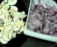 Salsa de champiñones preparativo 2