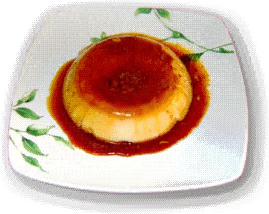 Flan de huevo al microondas