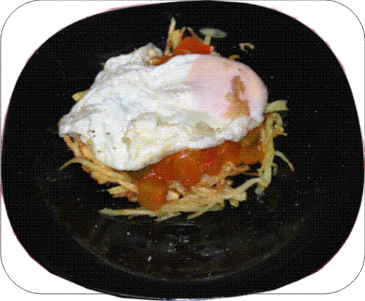 Huevo frito con fritada