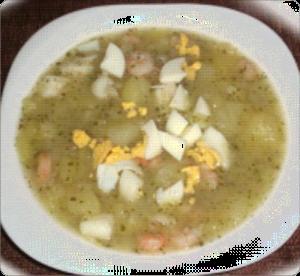 Sopa de gambas