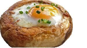champis rellenos con huevo codorniz