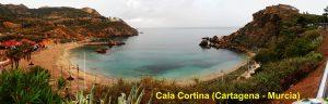 Playa de Cala Cortina en Cartagena (Murcia)