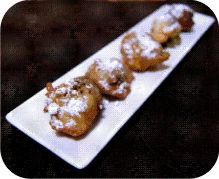 Buñuelos rellenos de chocolate