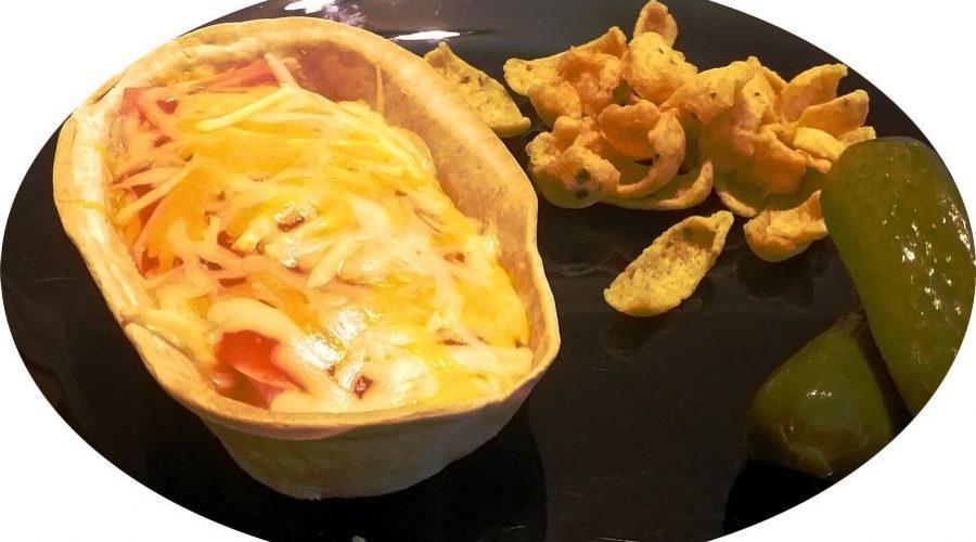 Barquilla de calabacín y queso