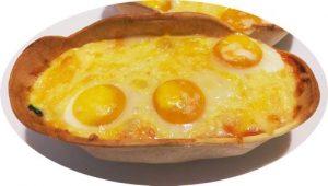 Barquitas de calabacín y queso con huevos de codorniz