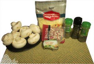Ingredientes para champis rellenos