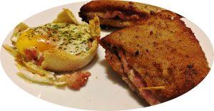 Libro relleno de jamón de york y queso