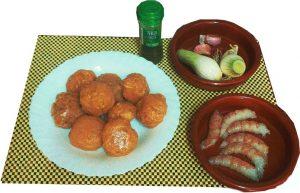 Ingredientes de albóndigas de pescado