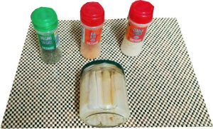 Ingredientes para espárragos especiados
