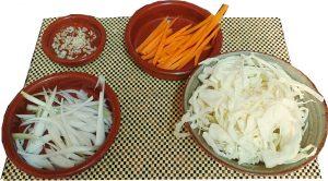 Ingredientes para rollitos de primavera