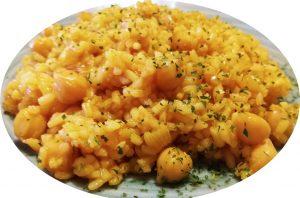 Arroz con garbanzos al curry
